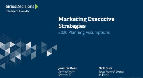 Marketing Executive Strategies: Planning 2020 Webcast Replay