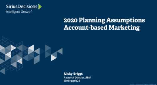 Account Based Marketing: Planning 2020 Webcast Replay