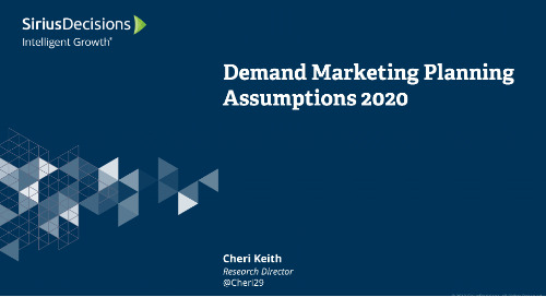 Demand Marketing: Planning 2020 Webcast Replay