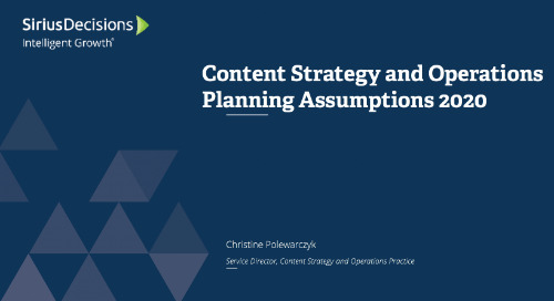 Content Strategy and Operations: Planning 2020 Webcast Replay