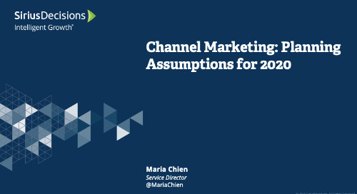 Channel Marketing: Planning 2020 Replay