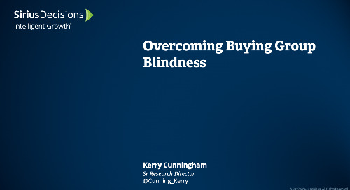 Overcoming Buying Group Blindness Webcast Replay