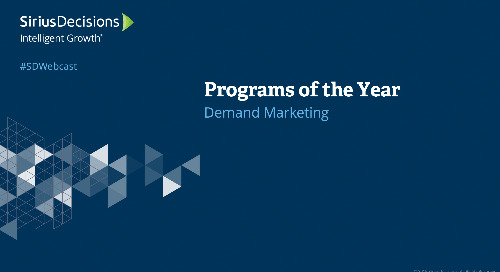 Demand Marketing Programs of the Year: 2019 Webcast Replay