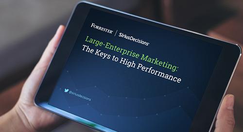 Large-Enterprise Marketing Leaders: The Keys to High Performance