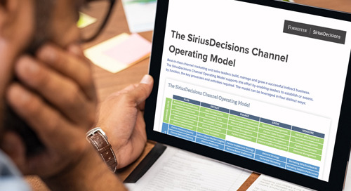 The SiriusDecisions Channel Operating Model