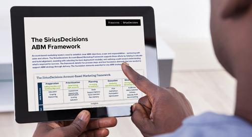 The SiriusDecisions ABM Framework