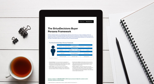 The SiriusDecisions Buyer Persona Framework