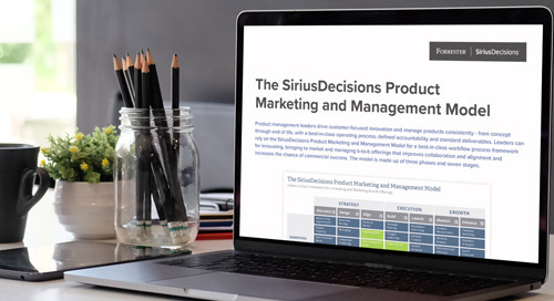 Using the SiriusDecisions PMM Model Brief