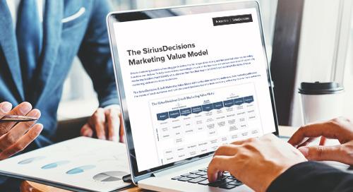 The SiriusDecisions B2B Marketing Value Model
