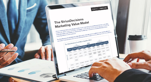 The SiriusDecisions B2B Marketing Value Model