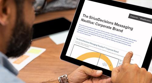 The SiriusDecisions Messaging Nautilus™: Corporate Brand