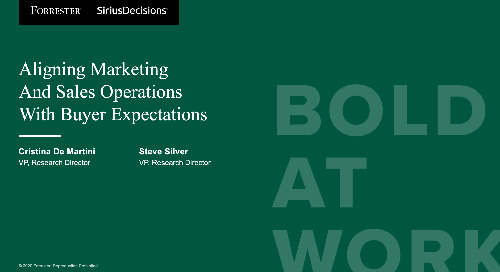 Aligning Marketing And Sales Operations With Buyer Expectations Webinar Replay