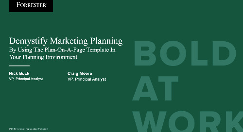 Demystify Marketing Planning Webinar Replay