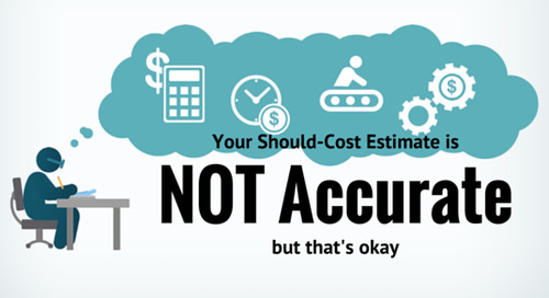 Your Should-Cost Estimate is NOT Accurate, but that's Okay