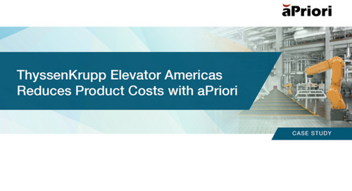 ThyssenKrupp Elevator Americas Reduces Product Costs in Less Than 3 Months