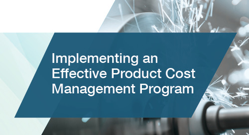 Implementing an Effective Product Cost Management Program