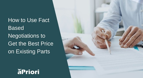 How to Use Fact-Based Negotiation to Get the Best Price on Existing Components