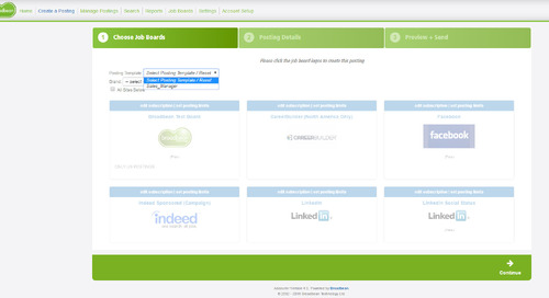 Broadbean Job Distribution: Expedite the Job Posting Process with Saved Templates