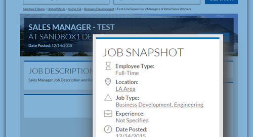 Applicant Tracking: Now Job Seekers have More Clarity into a Job's Location