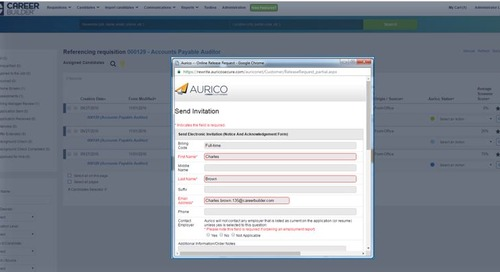 Easily Integrate CareerBuilder Employment Screening Within Applicant Tracking