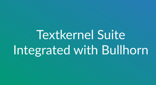 Textkernel's Full Suite Is Now Integrated With Bullhorn