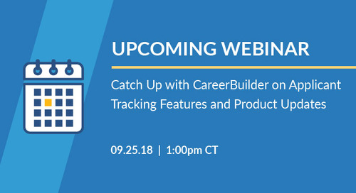 Webinar: What's New with CareerBuilder Applicant Tracking
