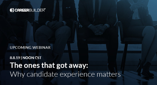 """On-demand Webinar: """"The ones that got away: why candidate experience matters"""""""