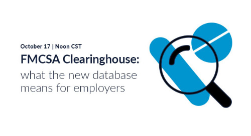 New webinar: FMCSA Clearinghouse - what the database means for employers