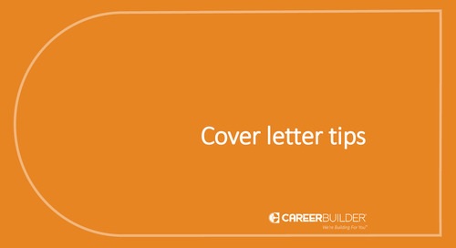 Cover letter tips from CareerBuilder