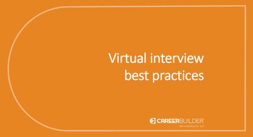 Virtual interview best practices
