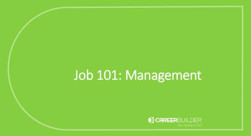 Job 101: Management