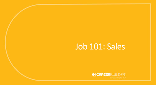 Job 101: Sales