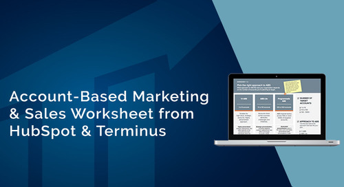 HubSpot & Terminus Team Up for Account-Based Marketing & Sales Worksheet