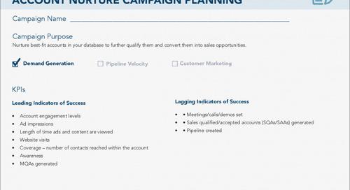 [Worksheet] ABM Strategy #2: Account Nurture