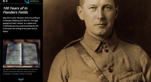 Remembrance Day: A day to learn about Canada's history through GIS