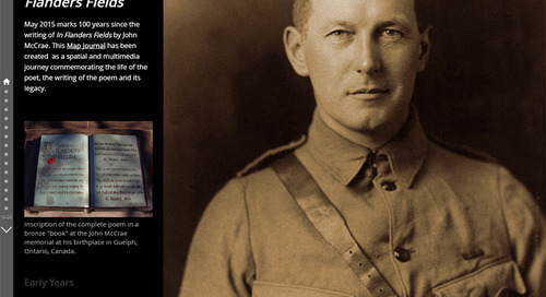 "November's App of the Month: City of Guelph's 100 Years of ""In Flanders Fields"" Story Map"