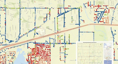 Health Index Map for Utility Wood Poles in Pickering and Ajax, ON