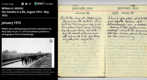 Create a story of remembrance using primary source documents