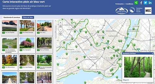 Nature-Action Québec advances David Suzuki Foundation campaign with interactive map