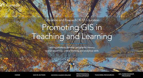 EsriCanada ouvre son nouveau site web sur l'enseignement au primaire et au secondaire