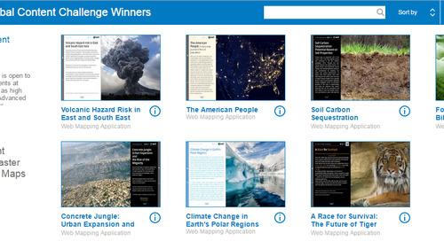 Félicitations aux gagnants canadiens du défi de contenu mondial d'Esri