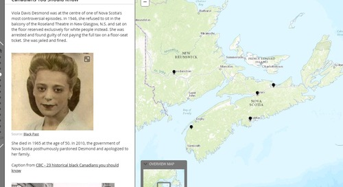 ArcGIS Online resources highlighting Maritimes geography and history