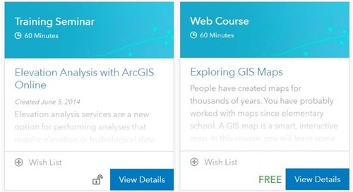 Educators: Access e-Learning resources with your ArcGIS Online account