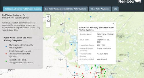 Application du mois d'août : Avis concernant la qualité de l'eau potable au Manitoba
