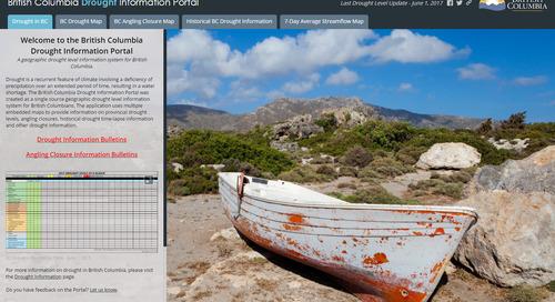 Application du mois de juillet:Portail d'information sur la sécheresse de la Colombie-Britannique