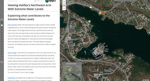 Application du mois de septembre : Bras Northwest d'Halifax avec des niveaux d'eau extrêmes