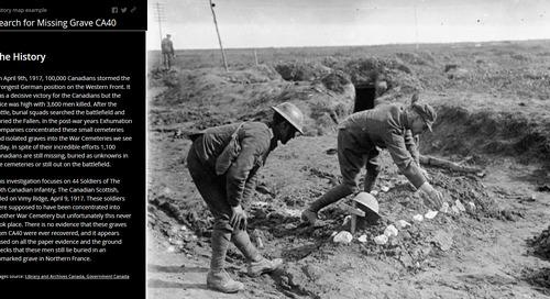 À la recherche des soldats canadiens tombés au champ d'honneur de la crête de Vimy