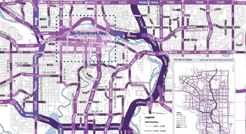 Carte 2016 de la circulation routière à Calgary