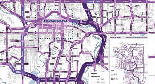 2016 Calgary Traffic Flow Map