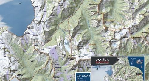 Carte de RK Heliski destinée aux clients